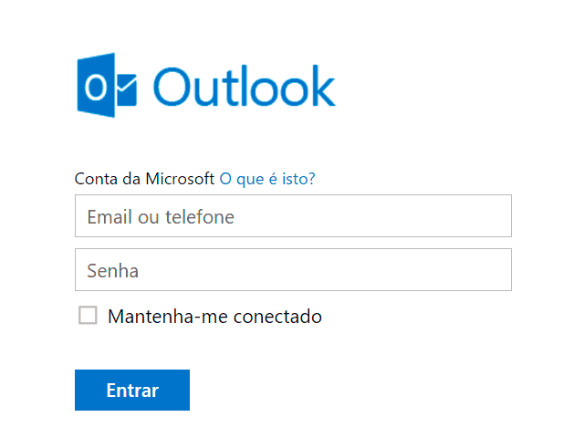 Login no Outlook