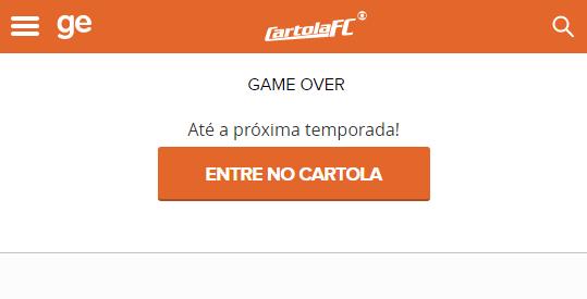 Cartola FC Login